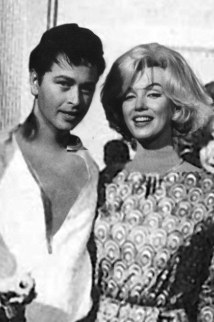 El actor acompañó a Marilyn Monroe en su visita a México en 1962 (Foto: Archivo)