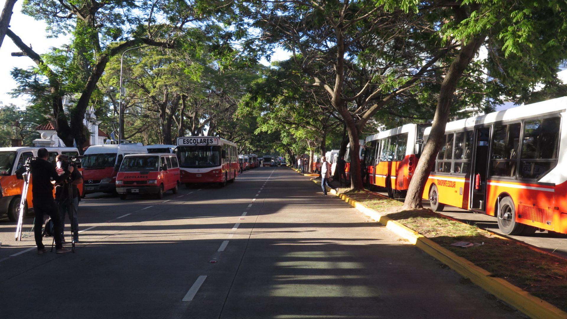 Protesta quinta Olivos micros