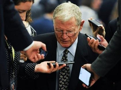 El Senador James Inhofe (REUTERS/Mary F. Calvert)