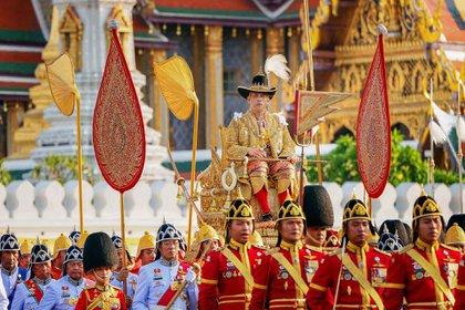 El rey llamado Rama X en una de las ceremonias en Tailandia (Shuttersotck)