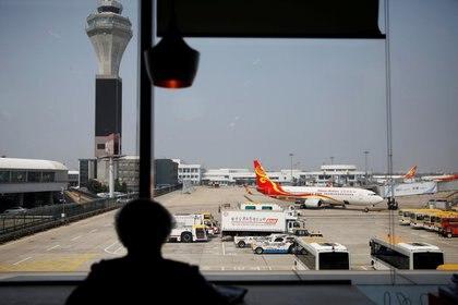 Un avión de Hainan Airlines en el aeropuerto internacional Beijing Capital (REUTERS/Carlos Garcia Rawlins/archivo)