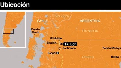 El operativo de despeje de Gendarmería se hizo sobre la Ruta Nacional 40, en Chubut