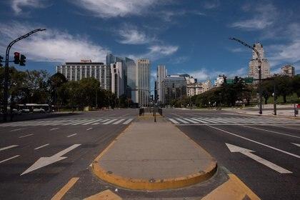 Buenos Aires vacía. Foto: Walter Carrera.