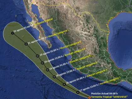 (Foto: Servicio Meteorológico Nacional / Conagua Clima)