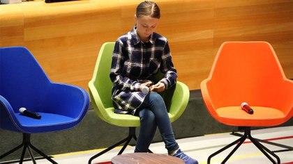 Greta Thunberg se transformó en un ícono de la lucha contra el cambio clímatico (REUTERS)