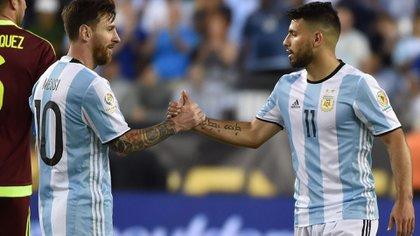 Sergio Agüero y Lionel Messi en la Selección Argentina