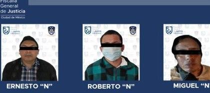 Tres hombres fueron detenidos por abuso sexual, dos de ellos a menores de edad Foto: (Fiscalía CDMX)