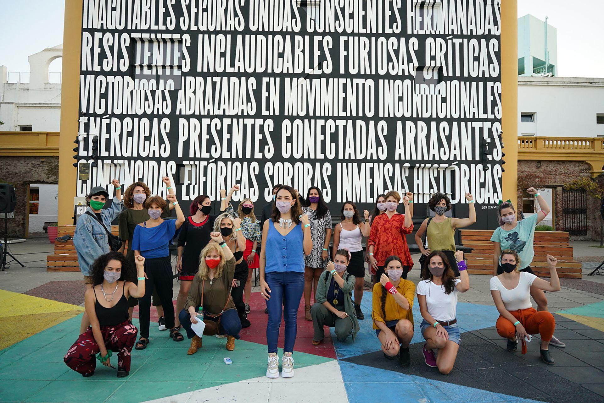 Conferencia prensa Thelma Fardin -  Actrices Argentinas