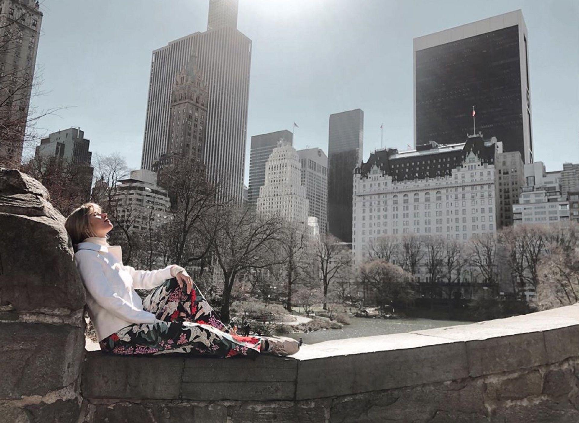 Laurita Fernández estuvo una semana de vacaciones en Nueva York