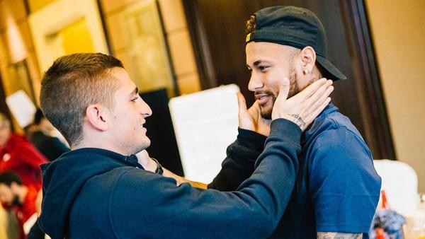 El reencuentro entre Neymar y Marco Verratti