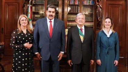 Maduro visitó por unas horas a López Obrador el 1 de diciembre de 2018