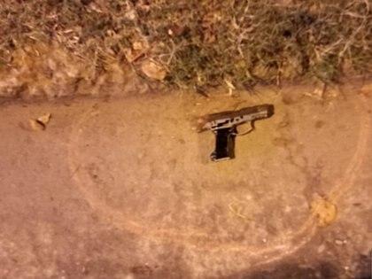 La réplica de arma de fuego encontrada en la zona del hecho