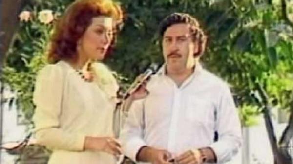 Pablo y su amante Virginia Vallejo, presentadora estrella de la tevé colombiana
