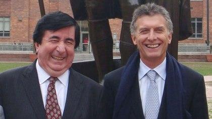 Mauricio Macri junto a su asesor Jaime Duran Barba <br> NA 162