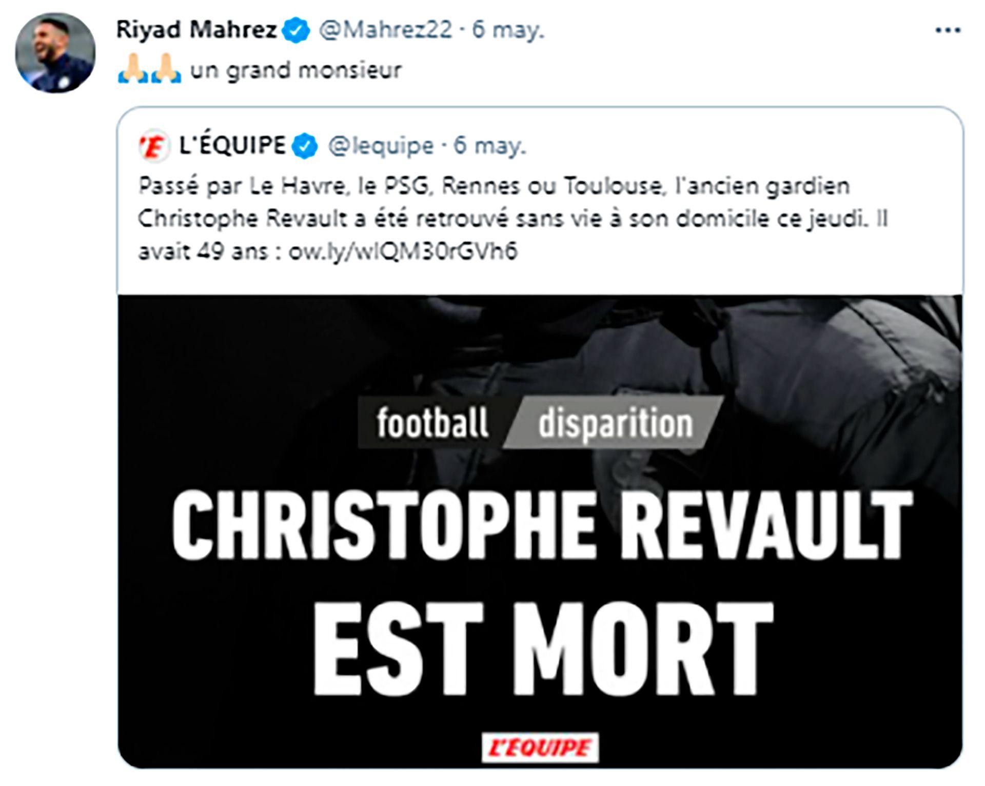 La despedida de Christophe Revault