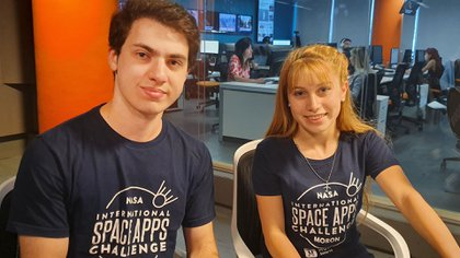 Priscila Lopez y Mateo Battilana Bidiña, dos de los integrantes del proyecto Alquid, seleccionado por la NASA