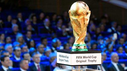 El trofeo que todos aspiran a entregar en su país (AFP PHOTO / Alexander NEMENOV)
