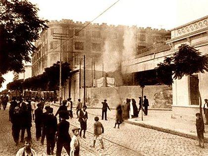 El incendio en Talleres Metalúrgicos Vasena