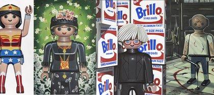 Wonder Woman, Frida Kahlo, Andy Warhol y Jackson Pollock