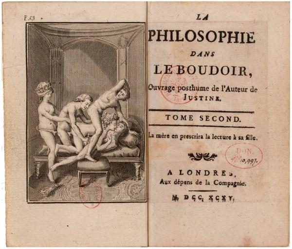 """""""La filosofía del tocador"""", edición de 1795"""