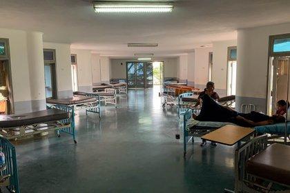 Fotografía del 15 de abril de 2019 donde se observan camillas vacías  del hospital Universitario, en Caracas (Venezuela). (EFE/Miguel Gutierrez/Archivo)