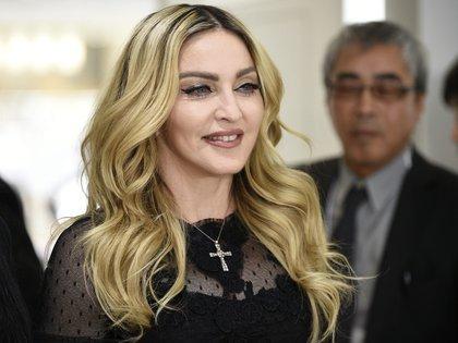 La súper estrella del pop Madonna posa durante un evento promocional. EFE/Franck Robichon/Archivo