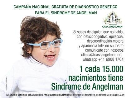 Una campaña nacional de diagnóstico, impulsada por la Fundación Angelman, busca concientizar y brindar información adecuada tanto a padres de niños con un retraso general en el desarrollo como a profesionales médicos