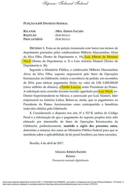 Declaración de Luis Weyll ante el Supremo Tribunal de Brasil (Foto: MCCI)