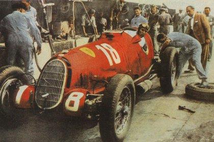 Tazio Nuvolari en los inicios de la Scuderia Ferrari. El italiano era espectacular (Archivo CORSA)