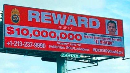 El gobierno de Estados Unidos ofrece una recompensa millonaria por la captura de Mencho (Foto: archivo)