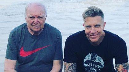 Padre e hijo: Jorge y Alejandro Fantino (Instagram)