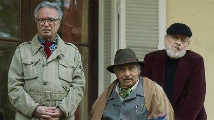 Luis Brandoni, Oscar Martínez y Marcos Mundstock