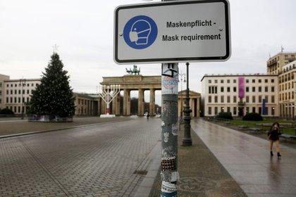 Puerta de Brandenburgo en Berlín, Alemania, el lunes 14 de diciembre de 2020. Bloomberg.