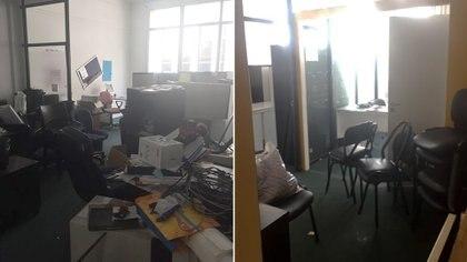 Una de las oficinas