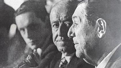 Juan Manuel Abal Medina, Héctor Cámpora y Juan Domingo Perón