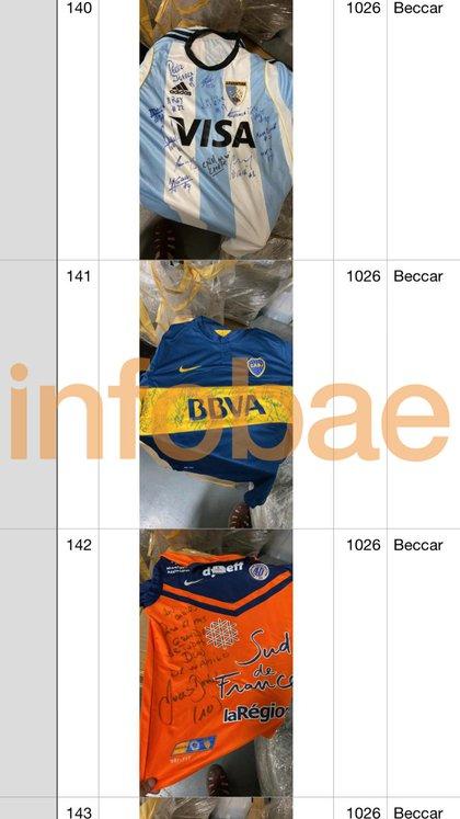 Camiseta de las Leonas, de Boca y de Montpellier, campeón de Francia 2011, firmada por los respectivos planteles