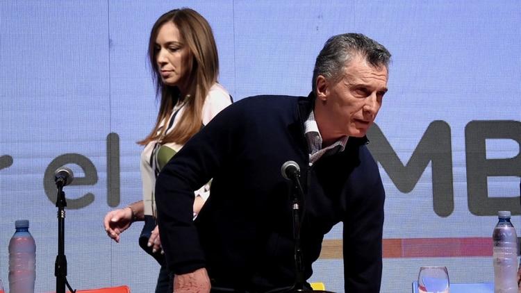 Mauricio Macri y María Eugenia Vida: amigos personales con diferencias profundas en la estrategia electoral. (Nicolas Stulberg)