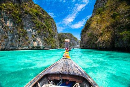 Phi Phi, la playa de ensueño donde se firmó la película con Leonardo Di Caprio (Shutterstock)