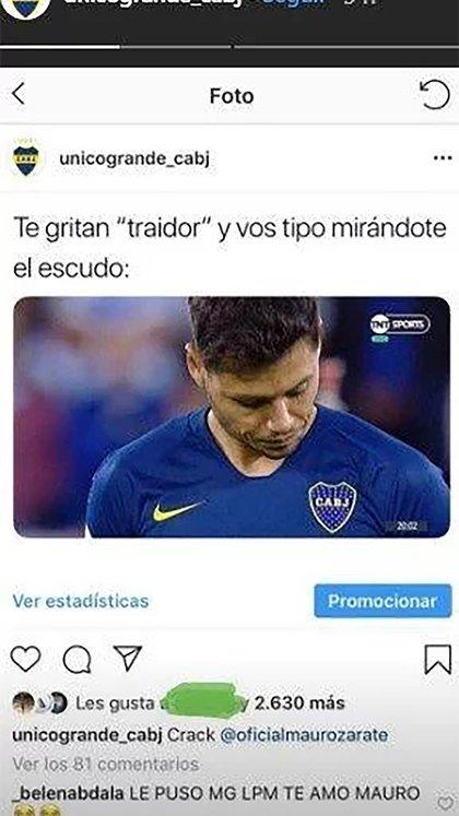"El meme que dio ""like"" Mauro Zárate"