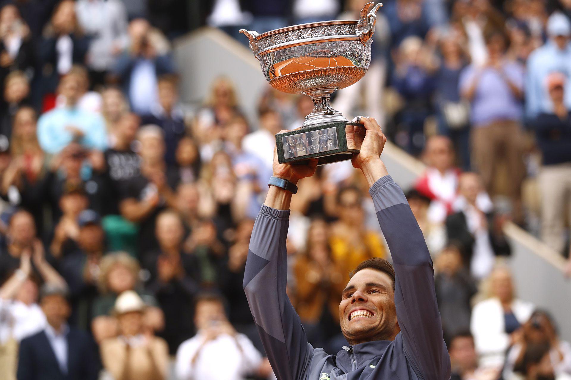 En 2019 ganó el 12° título en Roland Garros tras vencer a Dominic Thiem (Foto: Reuters)