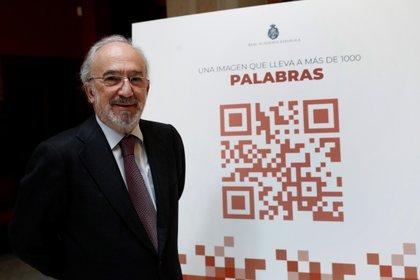 El director de la Real Academia Española, Santiago Muñoz Machado, durante la presentación de la nueva página web de la RAE (EFE/ Mariscal)