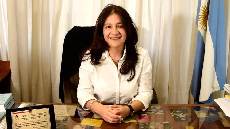 Julia Elena Márquez, jueza de Ejecución Penal N°1 del Departamento Quilmes (foto: @JuliaElenaMARQ1)