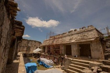 Templo de las Inscripciones, Palenque, Chiapas (Foto: Hector Montano / INAH / REUTERS - ESTA IMAGEN FUE PROPORCIONADA POR TERCEROS - NI VENTAS NI ARCHIVOS)
