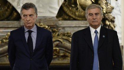 Mauricio Macri y Oscar Aguad (Adrián Escandar)