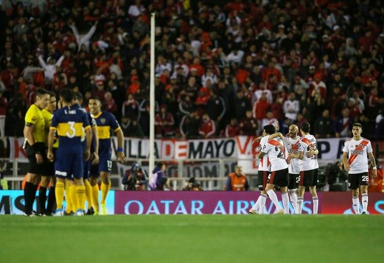 River se impuso por 2 a 0 en el Monumental y sacó una buena ventaja de cara a la revancha en la Bombonera Foto: REUTERS/Agustin Marcarian