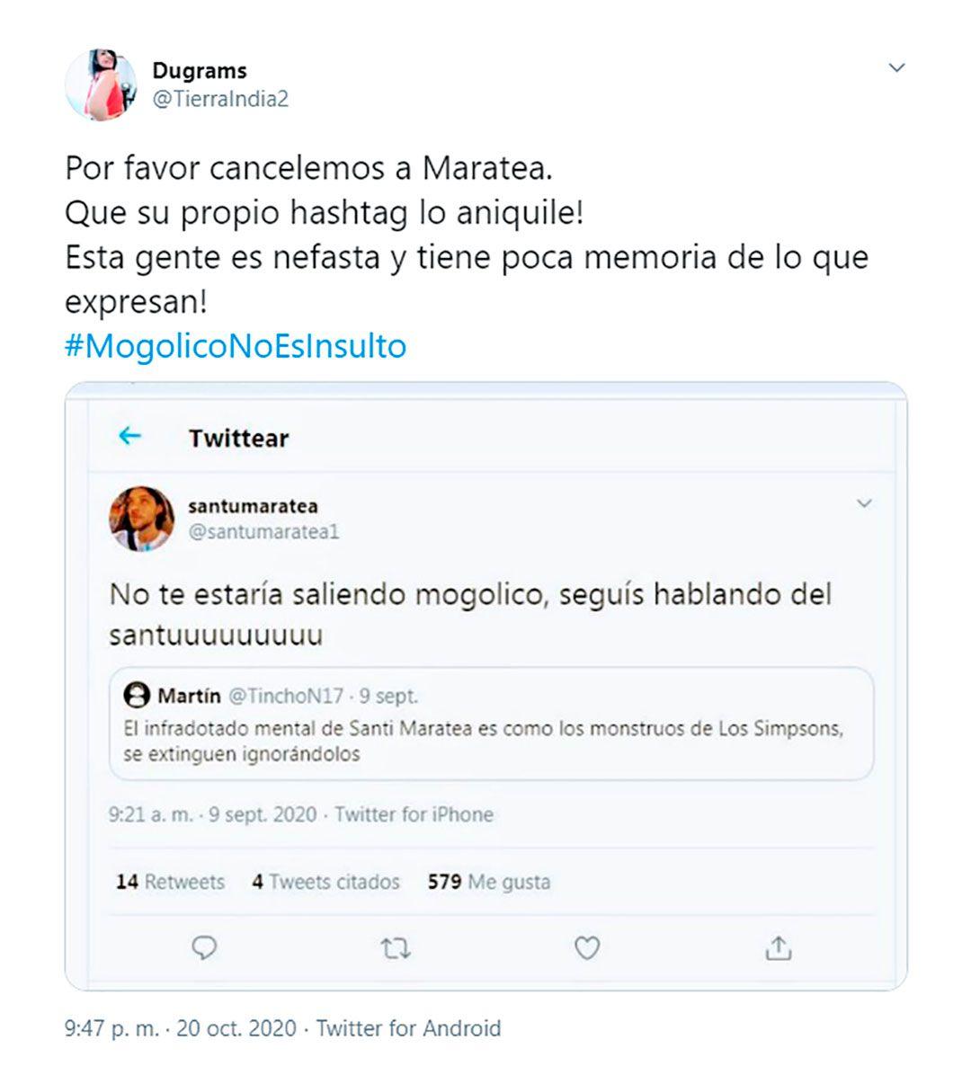 tuits mogolico no es un insulto