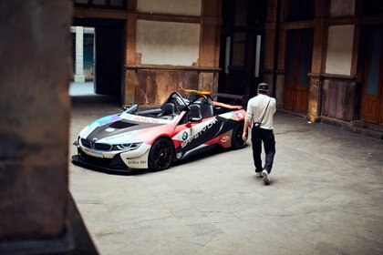 Brooklyn Beckham fotografió el BMW i8 Safety Car (Foto:  BMW Group)
