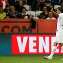 Soccer Football - Ligue 1 - OGC Nice v Paris St Germain - Allianz Riviera, Nice, France - October 18, 2019 Paris St Germain's Angel Di Maria celebrates scoring their first goal REUTERS/Eric Gaillard