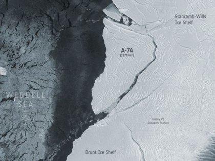 03/03/2021 Imagen satelital del iceberg A-74 POLITICA INVESTIGACIÓN Y TECNOLOGÍA ESA