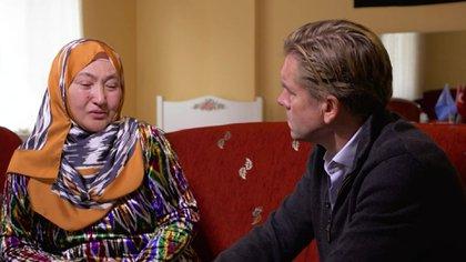 Gulbakhar Jalilova, violada en los centros de detención de Xinjiang junto al periodista de la CNN, Ivan Watson (CNN)
